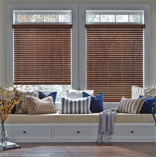 Hunter Douglas Everwood Alternative Wood Blinds English Walnut